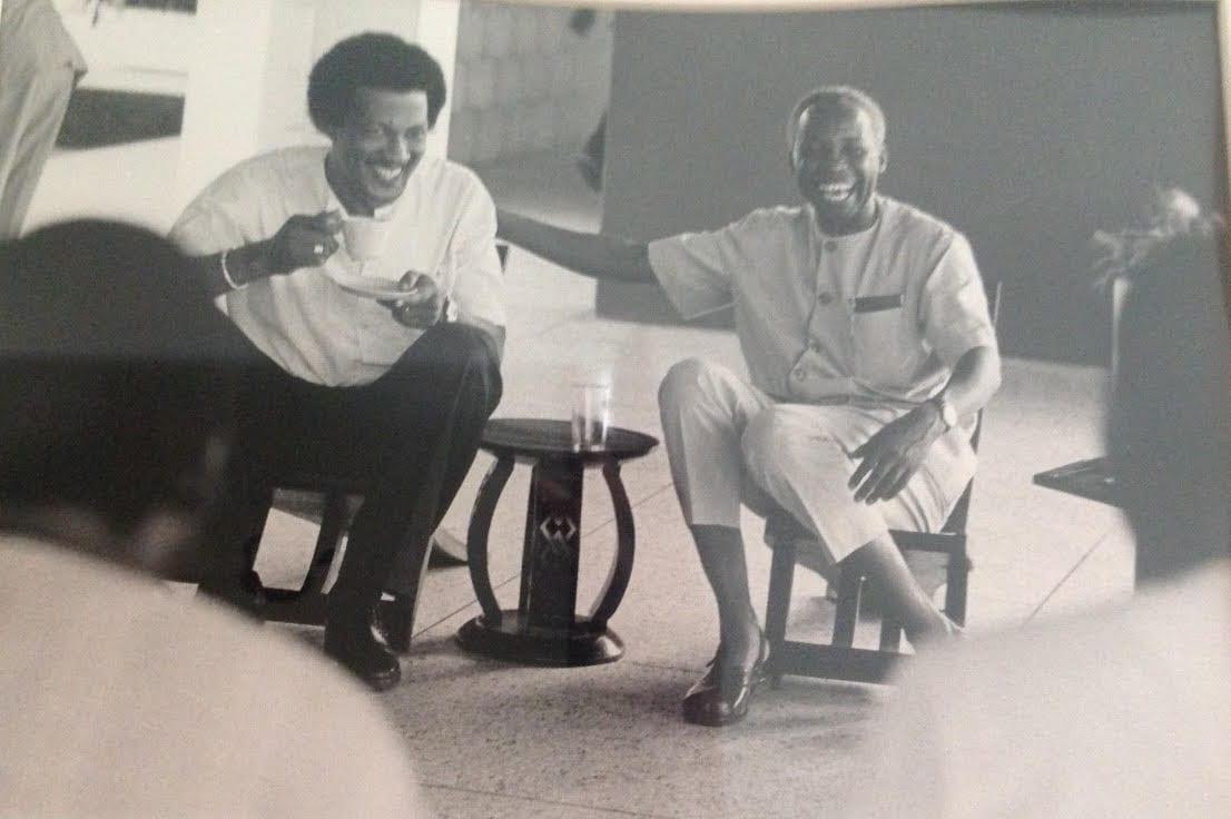 Dr. J. Fletcher Robinson and President Nyerere